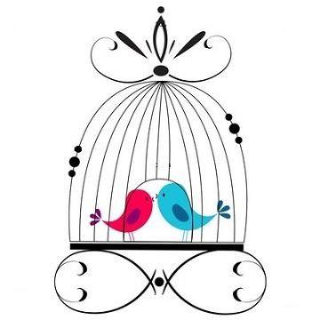 Cages aux oiseaux - Dessin oiseau en cage ...